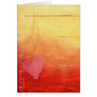 Sunset Romantic Birthday Card