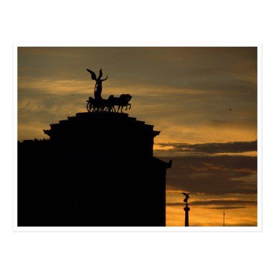 Sunset Rome Postcard