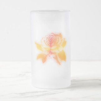 Sunset Rose - Frosted Glass Stein