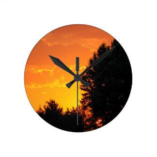sunset round clock
