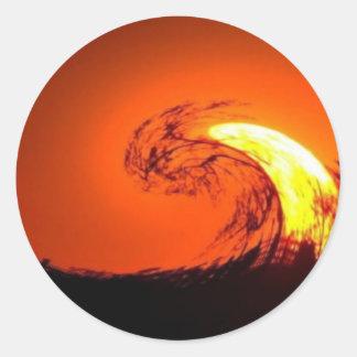 SUNSET ROUND STICKER