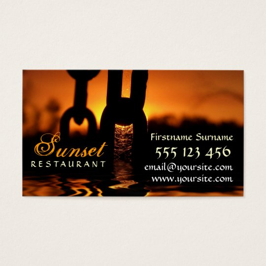 Sunset Rustic Business Card