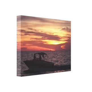 Sunset Sail Canvas Print