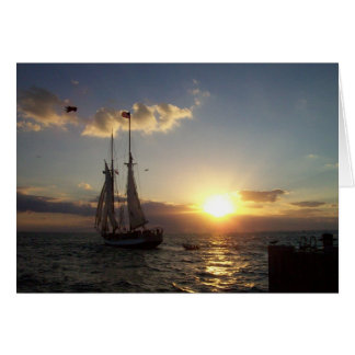 Sunset Sail Card
