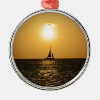 Sunset Sail Christmas Ornament