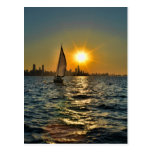 Sunset sail in Chicago Post Card