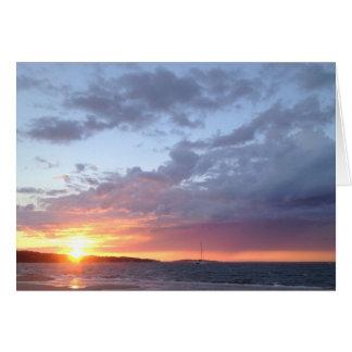 sunset sail noyac bay card