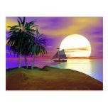 Sunset Sail Post Card