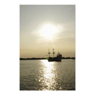 Sunset Sail Stationery Design