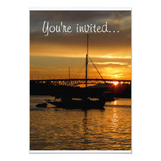 Sunset Sailboat invitation