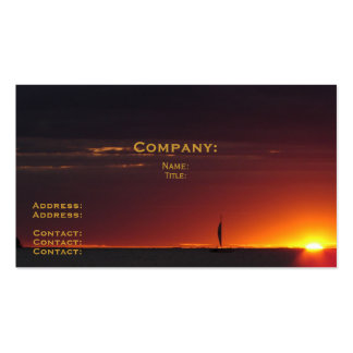 Sunset Sailboat Pack Of Standard Business Cards