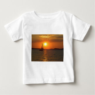 Sunset Sailing Boat Baby T-Shirt