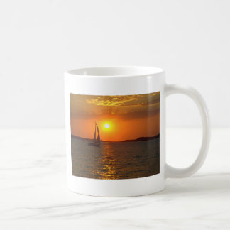 Sunset Sailing Boat Coffee Mug