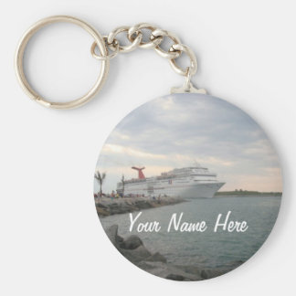 Sunset Sailing Pretty Personalized Basic Round Button Key Ring