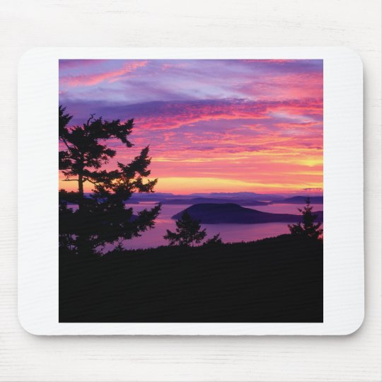 Sunset San Juan Islands At Puget Sound Mouse Mat