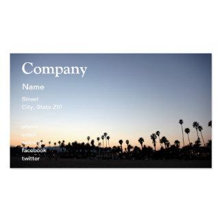 Sunset Santa Barbara Beach Business Card Template