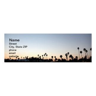 Sunset Santa Barbara Beach Business Card Templates