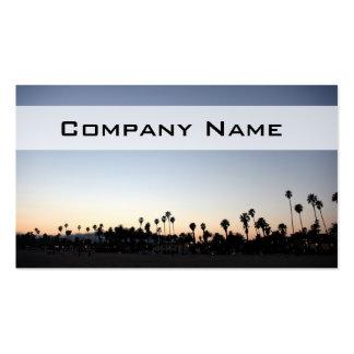 Sunset Santa Barbara Beach Business Card