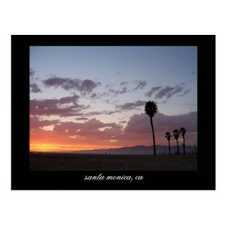 sunset : santa monica, ca postcard