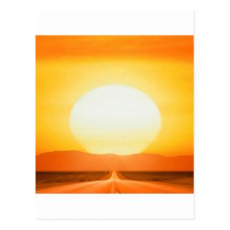 Sunset Savage Road Postcard