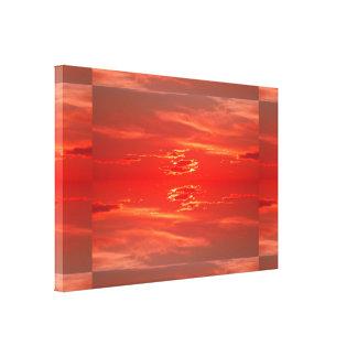 Sunset: Scarlet Red SDL Canvas Print