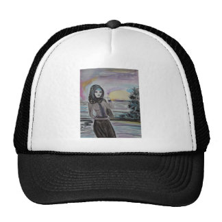 Sunset scarved woman, girl hjiab, muslim cap