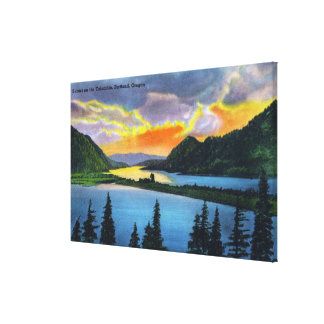 Sunset Scene on the Columbia River Gallery Wrapped Canvas