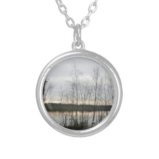 Sunset Scene Over Cheshire's Delamere Forest Jewelry