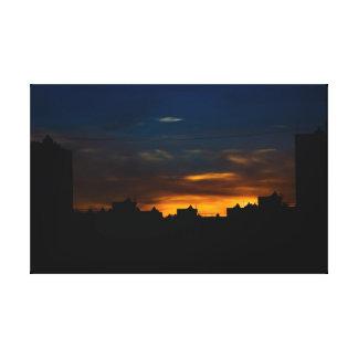Sunset Scyscrapers Canvas Print