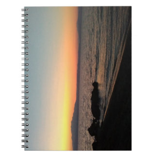 Sunset Sea Photo Notebook