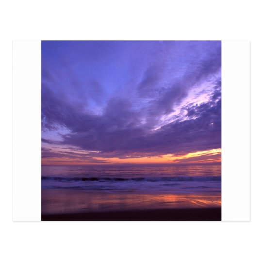 Sunset Seabright Santa Cruz California Postcard