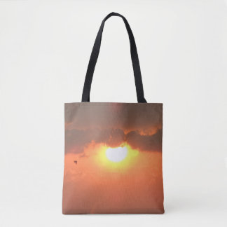 Sunset & Seagull Tote Bag