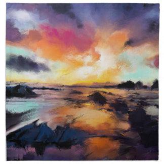 Sunset Seascape Cloth Napkins