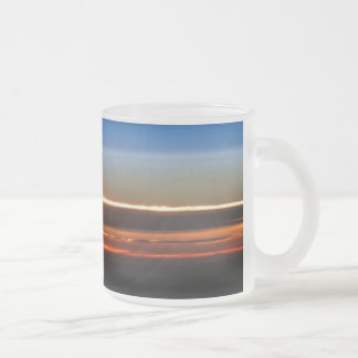 Sunset Seen From The International Space Station Frosted Glass Coffee Mug