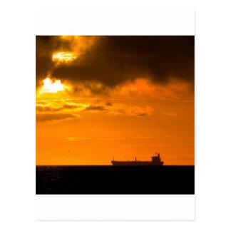 Sunset Setting Sail Postcard
