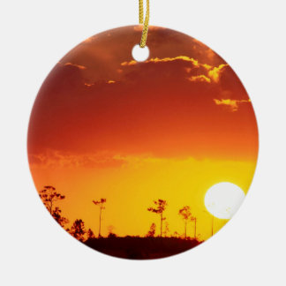 Sunset Setting Swampland Everglades Florida Christmas Ornament