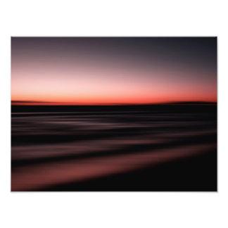 Sunset Shades Magenta Beach Ocean Seascape Print Photographic Print