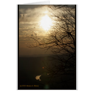 Sunset: Shenandoah River from Skyline Drive Card