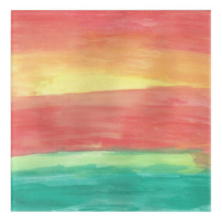 Sunset Shores Abstract Art