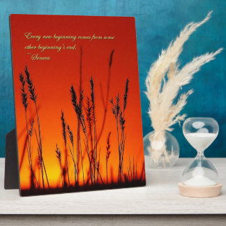 Sunset Silhouette Inspirational Plaque