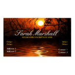 Sunset Silhouette Reflections Business Card