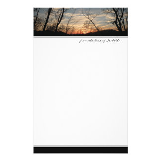 Sunset Silhouette Stationery