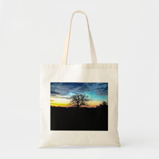 Sunset Silhouette Tree Tote Bag
