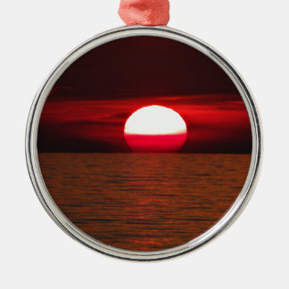 Sunset Silver-Colored Round Decoration