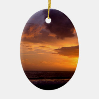 Sunset Sky Carpinteria California Christmas Ornament