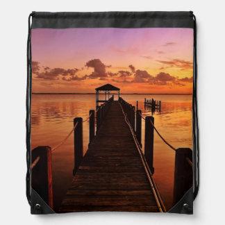 Sunset Sky Drawstring Bag