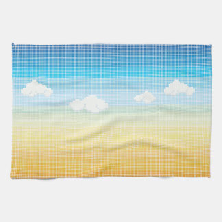 Sunset Sky Mosaic Tile Pattern Tea Towel