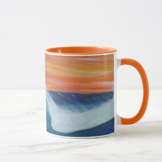 Sunset sky Orange mug