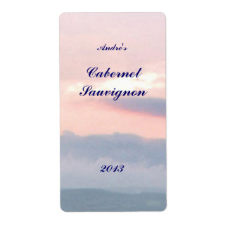 Sunset  Sky Wine Label Shipping Label