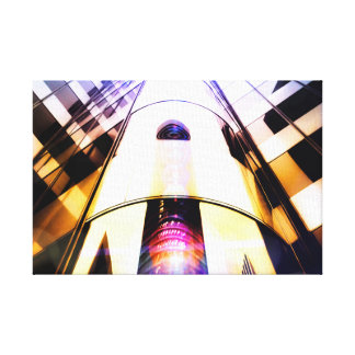 Sunset Skyscraper Abstract Photograph Canvas Print
